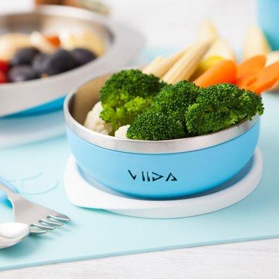 【現貨】QB選物 ❤ VIIDA ❤ Soufflé  抗菌不鏽鋼餐碗-寶貝藍
