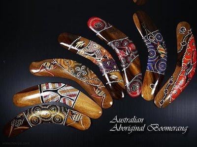 Australian Aboriginal Boomerang 澳洲 原住民 純手工 迴力鏢 100%澳洲製 擺飾 禮品 紀念品