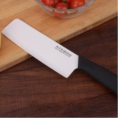 【優上】欽瓷陶瓷刀菜刀 德國切片刀免磨 廚房切肉刀黑刃氧化鋯刀具「白色」