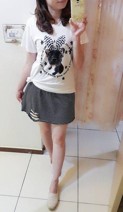 °☆~衣著紡~☆°  韓㊣ 細條紋破損背心裙/洋裝