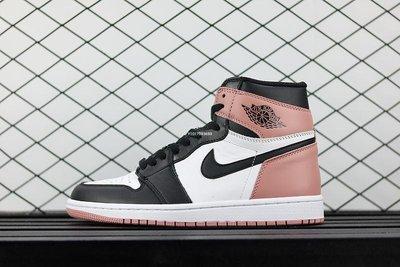 Air Jordan 1 Rust Pink AJ1 黑粉腳趾 新臟粉 休閒運動 籃球鞋 861428-101 男