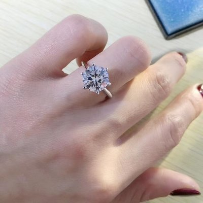 【3.013ct 南非鑽石戒指💍 D color, VS1級別, EX極好, 18K白金鑲嵌】珠寶首飾介指吊墜吊咀