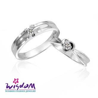 威世登 天然鑽石《心動系列》美麗人生 女戒- 韓風設計、情人節、生日、網友狂推熱銷款-JDA03241G-BDEXX
