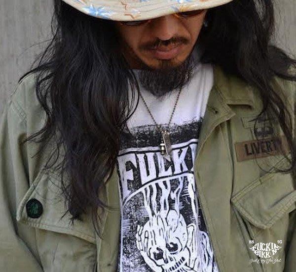 GOODFORIT/ 日本 FUCKIN BIKKIN Smoking Skull 復古毒瓶死神短袖上衣
