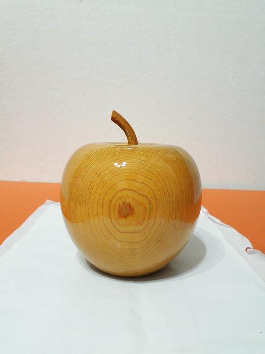 【九龍藝品】精選檜木 ~ 蘋果聚寶盆 ~ 寬約12公分 ( S6 )