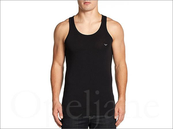 美國真品 Emporio Armani 阿曼尼黑色伸縮彈性舒適貼身短袖T恤盒裝  M L 號 免運費