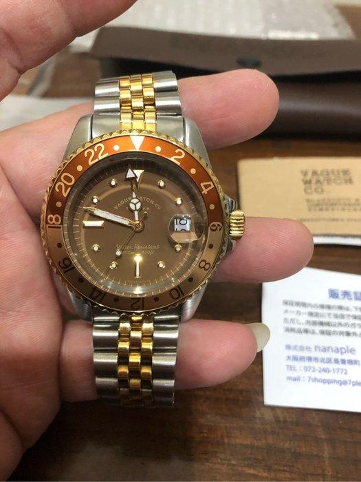 日本 VAGUE WATCH Co. Watch GMT  BG-L-001-SB  ROLEX 1675/3 95%新