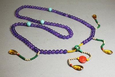 悅年堂 ---佛家七寶 紫水晶 朝珠