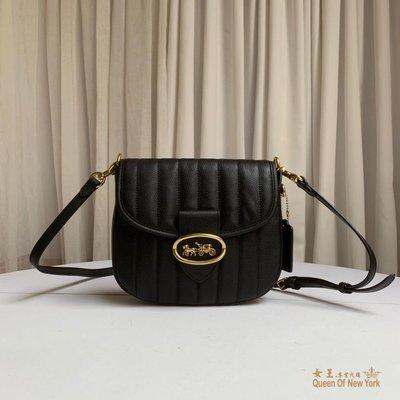 【紐約女王代購】COACH 寇馳 88239 KAT女士柔軟牛皮翻蓋相機包 單肩包 斜背包 小巧可愛 美國代購