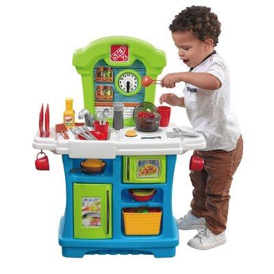 【晴晴百寶盒】美國進口 豐滿小廚房 STEP2 手眼協調角色扮演 辦家家酒 生日禮物益智遊戲玩具CP值高 品質W851