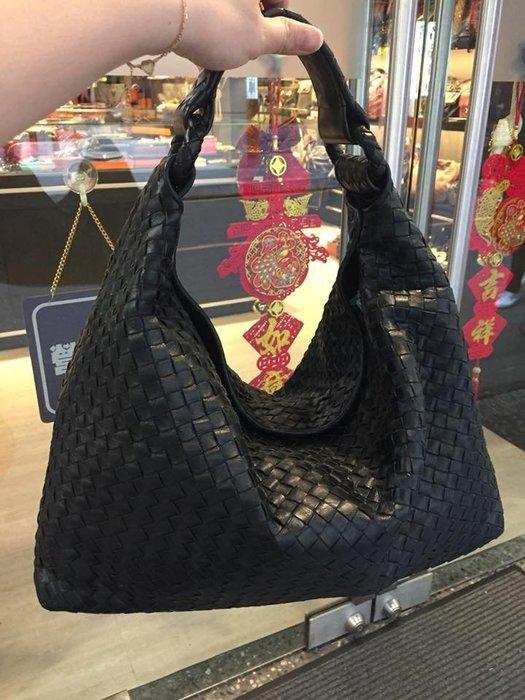 典精品 Bottega Veneta 黑色 172918  Sloane  全皮 編織 肩背包 專櫃98600 現貨