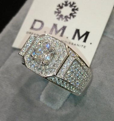 1克拉滿天星 DMM 流星鑽 莫桑石/GIA 鑽石 珠寶 摩星鑽 線戒 婚戒 防小人 高碳鑽  Moissanite 客製化 18k金 租借 來圖訂製