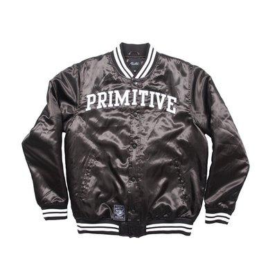 (安心胖)  PRIMITIVE Rival Satin Jacket BLACK 黑 2XL