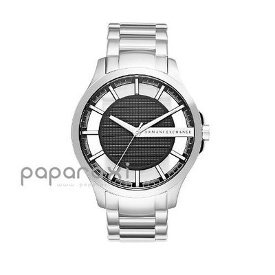 ARMANI A|X EXCHANGE HAMPTON SHADOW WATCH 漢普頓 銀色不鏽鋼錶 阿曼尼 男錶