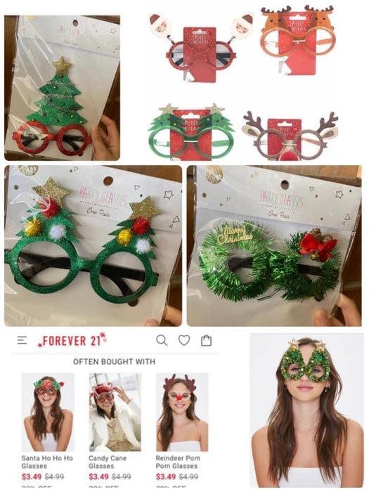 Forever 21可愛的造型眼鏡 聖誕造型