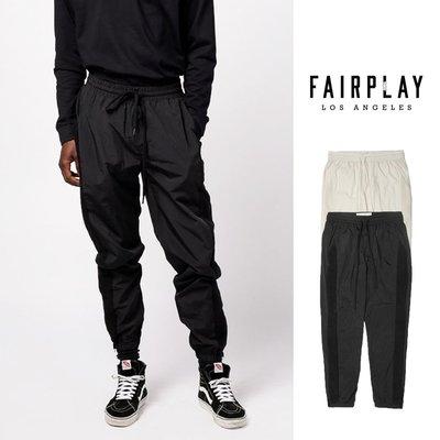 【GT】FairPlay Dosh 黑米白 長褲 修身 休閒 素色 抽繩 尼龍 復古 美牌 運動褲 縮口褲 滑板褲