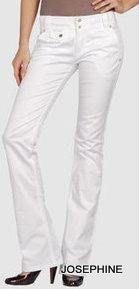 喬瑟芬【D&G~DOLCE&GABBANA】白色棉質小喇叭中低腰牛仔褲~特價$9500