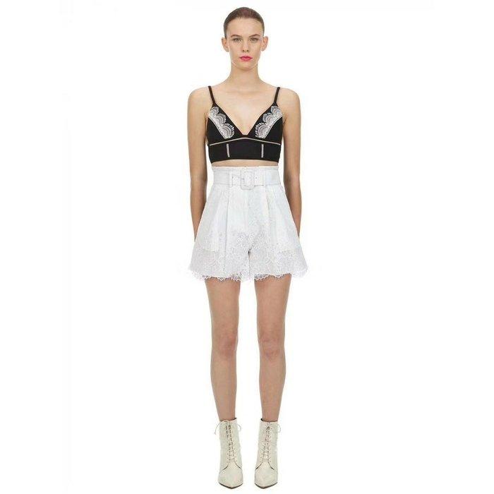 重量級 風靡歐美時尚圈 self-portrait 超~美的蕾絲拼接 漂亮高腰短褲