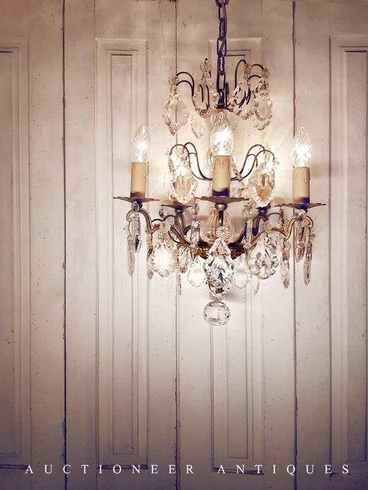 【拍賣師古董市集】歐洲古董1930年代法國水晶吊燈