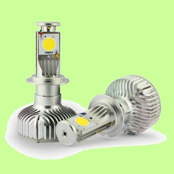 5Cgo【代購】LED 節能燈泡汽車前大燈40W 2000流明 CREE芯片超亮白光12 24 H1 H3 H4 H7 H11 會員扣2%
