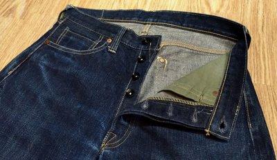 保證真品日本製THE REAL Mccoys 901 denim 原色丹寧復刻二次大戰直筒牛仔褲 赤耳布邊養褲 JOE
