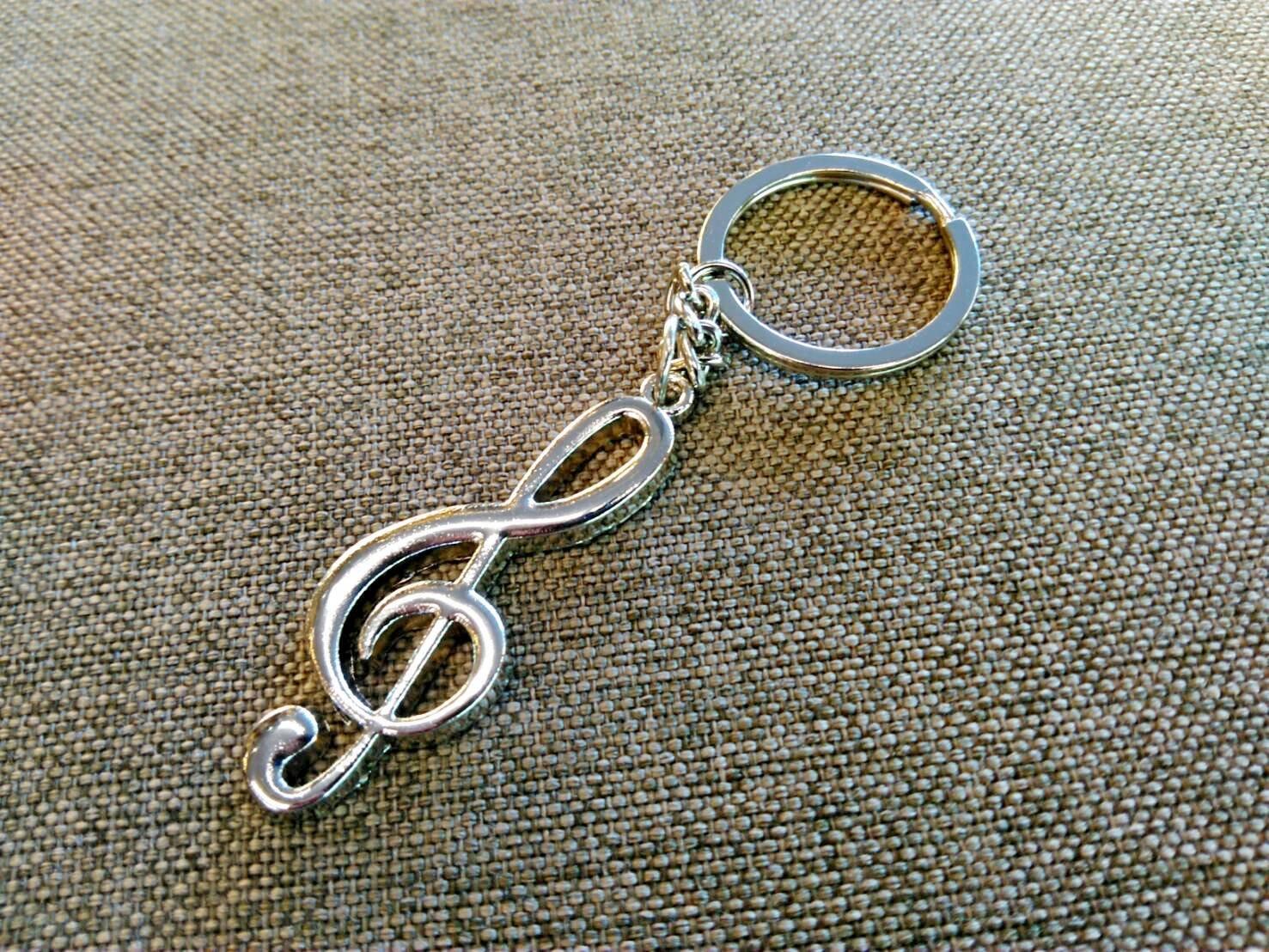 【老羊樂器店】金屬 譜號 音符 鑰匙圈 吊飾 飾品