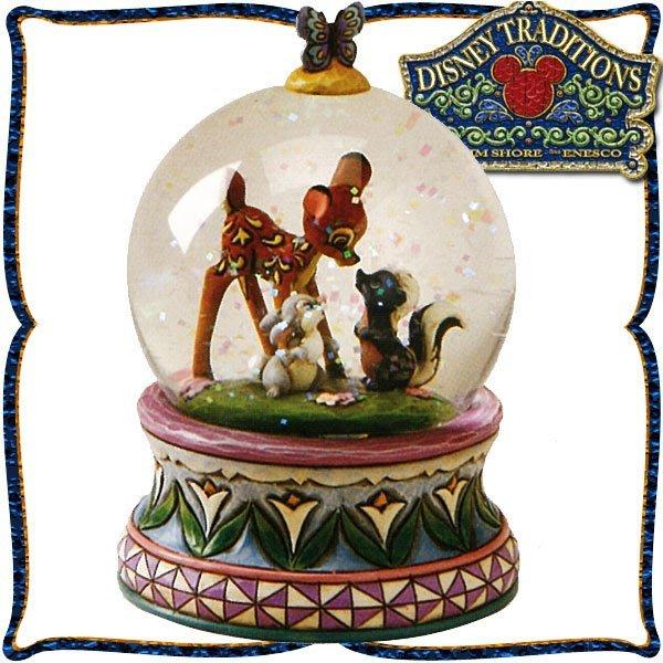 ♥心樂格格♥♫Disney Traditions  迪士尼 [小鹿斑比 Bambi 木雕風景品 模型](預購)全新美版~