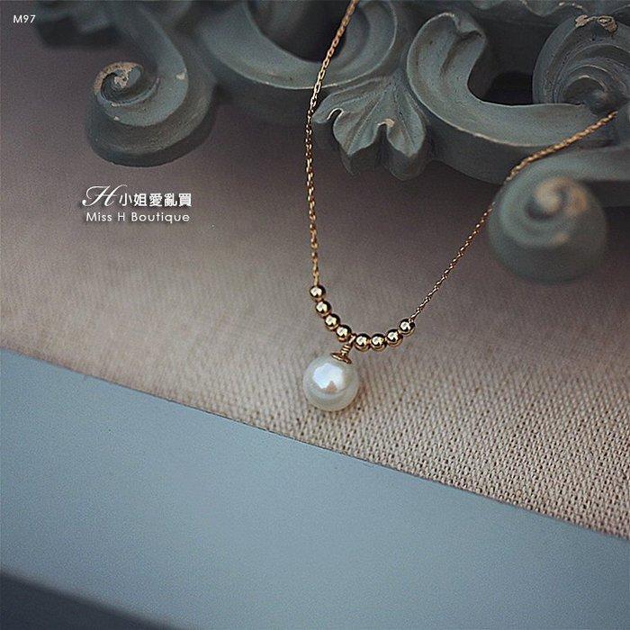 M97-手工輕珠寶-小金珠天然淡水珍珠項鍊 Twilly絲巾burberry手環nude風衣lv皮夾celine耳環