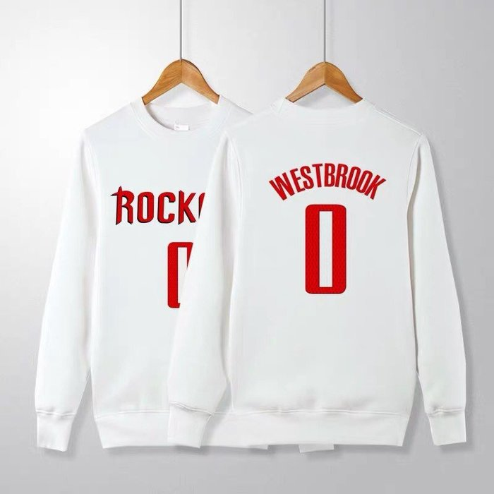 💥威少Russell Westbrook長袖純棉T恤上衛衣💥NBA火箭隊Adidas愛迪達運動籃球衣服大學T男978
