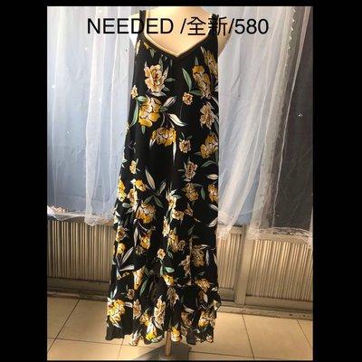 NeeDed設計師無袖長版洋裝