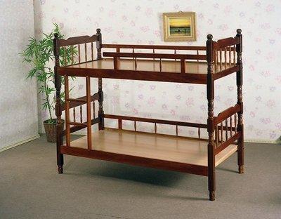 【全台家具批發網】GS-20 柚木 方柱 3尺雙層床(A欄) 台灣製造 傢俱工廠直營特賣
