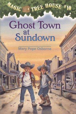 *小貝比的家*MTH#10 GHOST TOWN AT SUNDOWN/平裝/7~12歲[萬聖節讀本]
