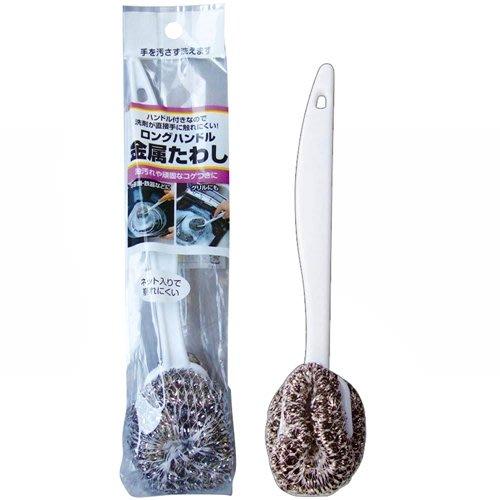 ☆龍歡喜精品☆ 日本 Mameita 手柄式 可吊掛 鋼絲球 鍋刷 鋼絲球刷 鋼刷 鐵絲球