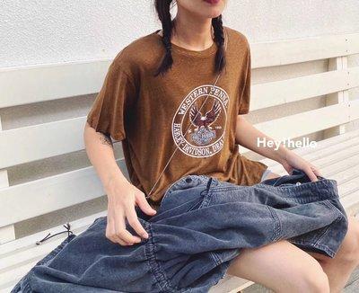 (預購)韓國春夏老鷹印花短袖T恤