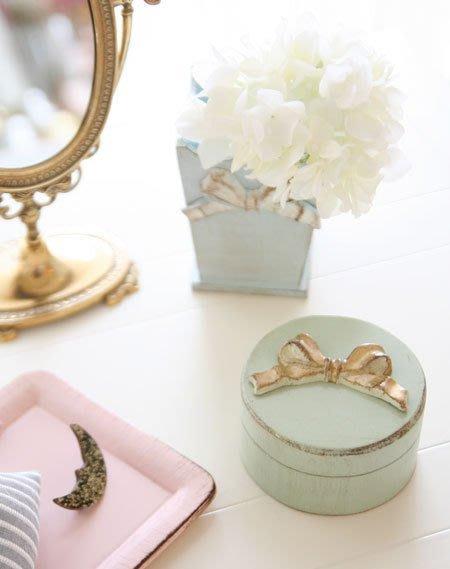 Ariel's Wish-義大利手工品牌SOLDI木頭製仿舊處理復古手工蝴蝶結飾品盒收納盒首飾盒珠寶盒兩色現貨-義大利製