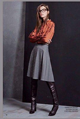 義大利 OLIVIA HOPS 焦糖色 長袖 襯衫