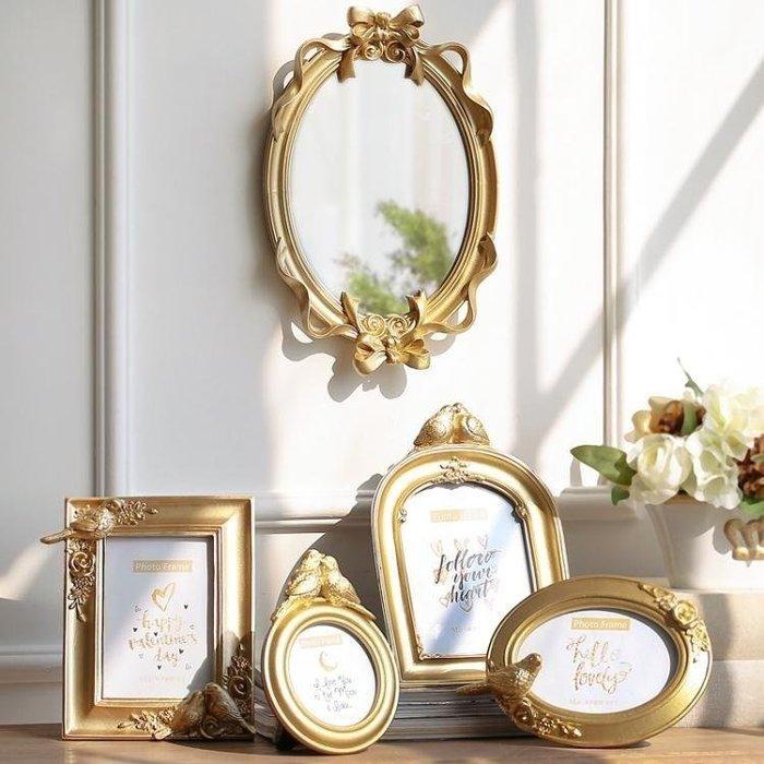 米可GO☞免運家居歐式皇冠金色樹脂掛墻相框擺臺奢華四寸3寸簡約式式畫框MI8KO