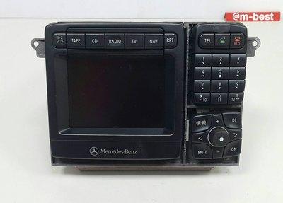 BENZ W220 1999-2002 音響主機 (日本規格 有銀幕) 2208200589