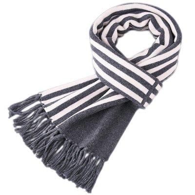圍巾 羊毛 披肩-拼色條紋流蘇針織男配件4色73wh26[獨家進口][米蘭精品]