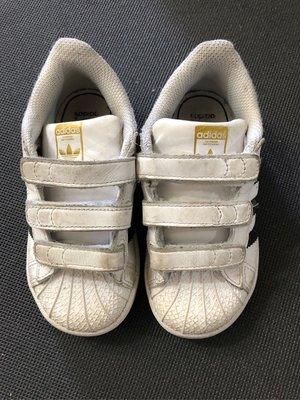 2手 adidas superstar白色金標 童鞋 台中市