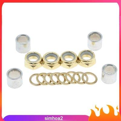 #現貨直出  Skateboard Truck Speed Kit Axle Washers Nuts-MDI28836