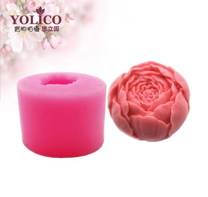 【悠立固】Y592 3D立體玫瑰花液態矽膠模 手工皂模 蛋糕烘焙工具 巧克力模 冰格 蠟燭模 薰香模 食品級
