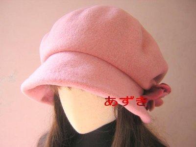 紅豆商行 -100%羊毛系列氣質爆升花朵配色娃娃帽款-粉紅下標區[現x特]