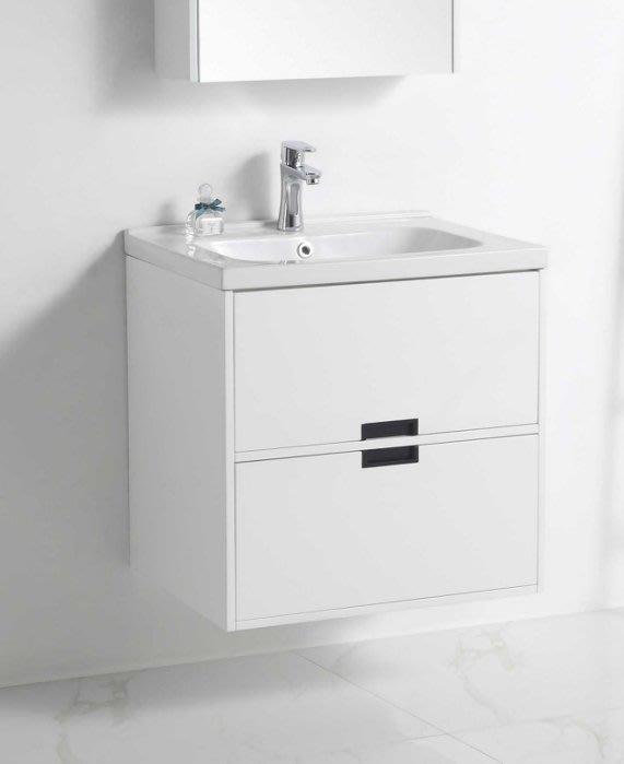 《E&J網》MooE V3-60WH 防水發泡板 浴櫃 + 臉盆 60cm 雙層抽屜臉盆浴櫃組 詢問另有優惠