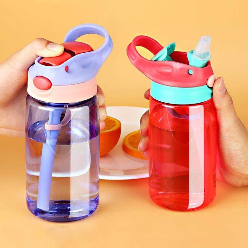 禧禧雜貨店-網紅兒童吸管杯夏季男孩便攜吸管式女童容量大吸水瓶。小學生水杯#新款