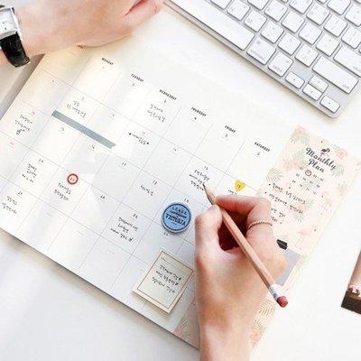 ❅PAVEE❅ 韓國iconic~Desk Planner Monthly v.2 事務辦公桌曆行事曆月計畫(30月