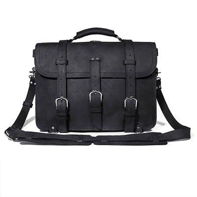 手提 包 真皮公事包-瘋馬皮17吋電腦包大容量男包包5色73ur2[獨家進口][米蘭精品]