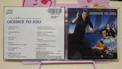 MCA美希亞1989 詹姆士龐德007殺人執照 電影原聲碟 Licence To Kill 無IFPI