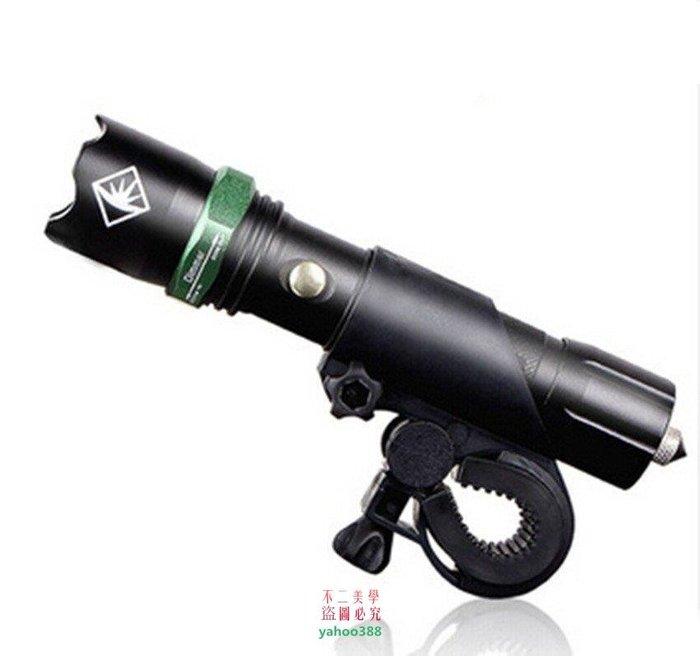 美學1夜騎 自行車燈 前燈 騎行裝備 強光調焦手電筒山地車尾燈單車配件❖5958