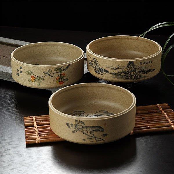 5Cgo【茗道】含稅會員有優惠  44203538489 大號古陶茶洗杯洗碗大號粗陶仿古老岩泥陶瓷紫砂茶盞茶具配件洗盤
